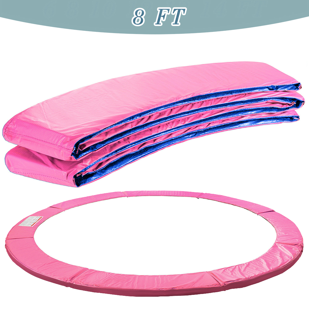 Trampoline Replacement Pad Safety Padding Spring Cover 6 8 10 12 13 14ft Pink